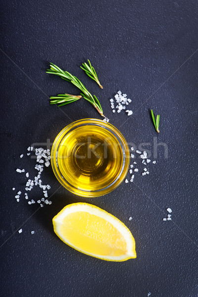 Aroma Spice tabel vers citroen olie Stockfoto © tycoon