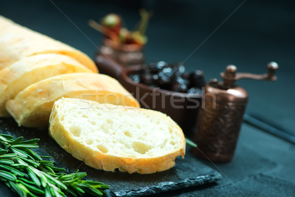 bread with olives Stock photo © tycoon