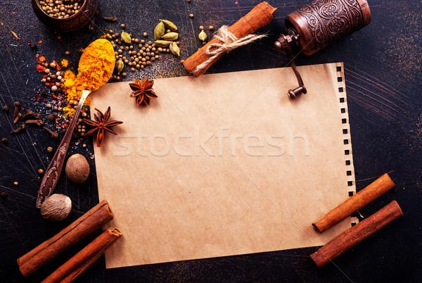 аромат Spice чеснока соль таблице продовольствие Сток-фото © tycoon