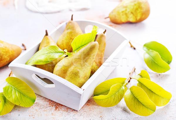 Peras fresco tabela estoque foto comida Foto stock © tycoon