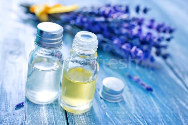 аромат нефть бутылку таблице цветок стекла Сток-фото © tycoon