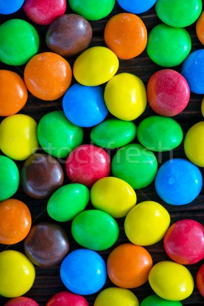Color dulces mesa chocolate textura nino Foto stock © tycoon