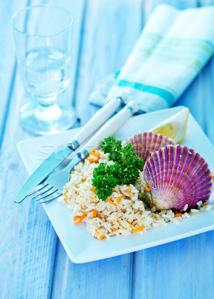 rice with scallop  Stock photo © tycoon