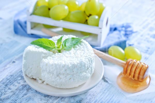 Peynir yeşil süt kahvaltı yeme beyaz Stok fotoğraf © tycoon