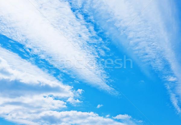 Natuur blauwe hemel textuur licht regen ruimte Stockfoto © tycoon