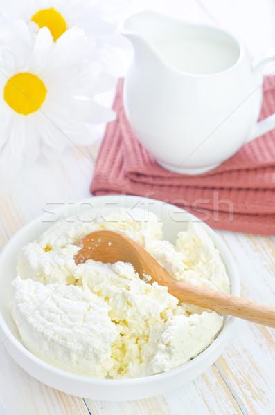 Huisje bloem hout gezondheid melk daisy Stockfoto © tycoon