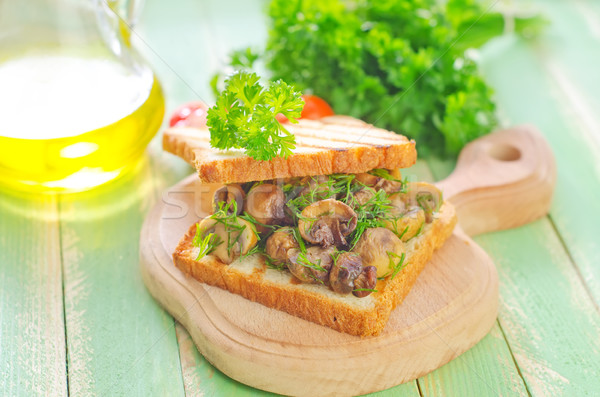 bread with mushroom Stock photo © tycoon