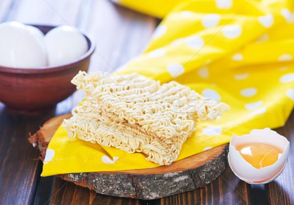 卵 麺 生 木板 食品 エネルギー ストックフォト © tycoon