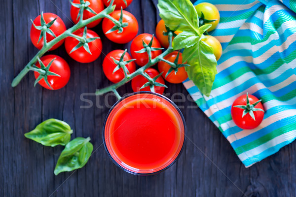 トマトジュース ガラス 表 自然 背景 緑 ストックフォト © tycoon