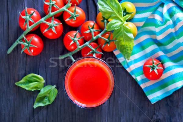 Tomatensap glas tabel natuur achtergrond groene Stockfoto © tycoon
