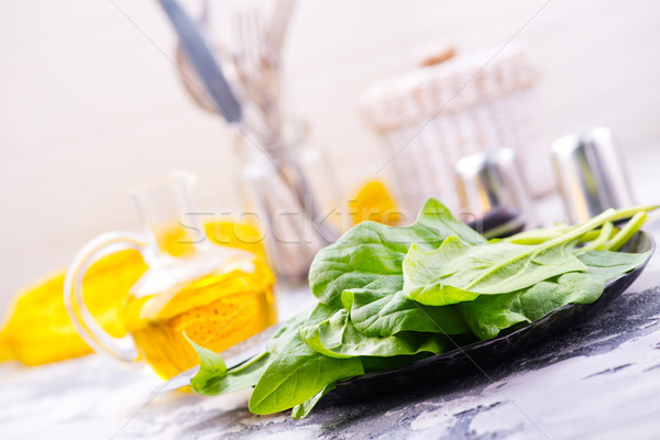 raw spinach Stock photo © tycoon