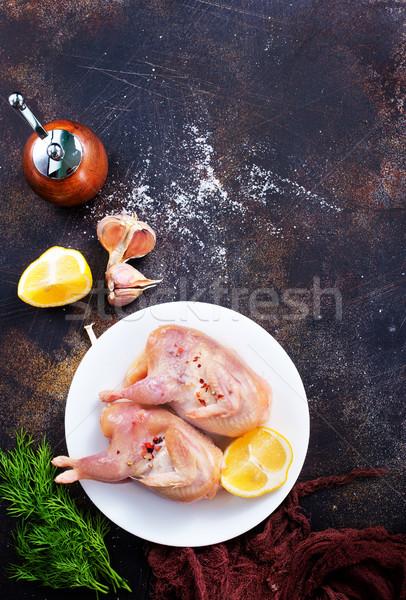 raw quail  Stock photo © tycoon