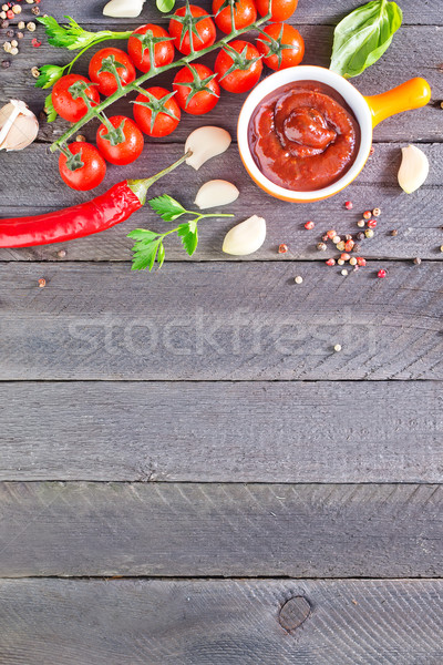tomato sauce and spice Stock photo © tycoon