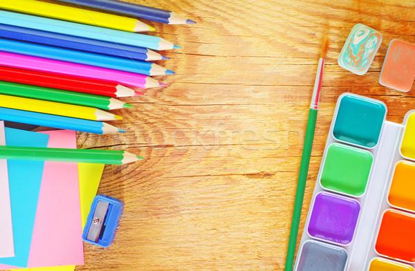 школьные принадлежности служба древесины карандашом образование пространстве Сток-фото © tycoon