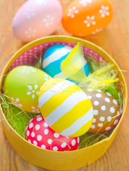 Сток-фото: пасхальных · яиц · цветы · древесины · яйцо · белый · праздник