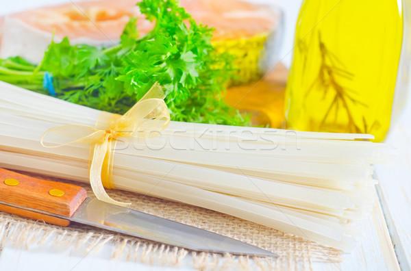 生 コメ 麺 鮭 食品 背景 ストックフォト © tycoon