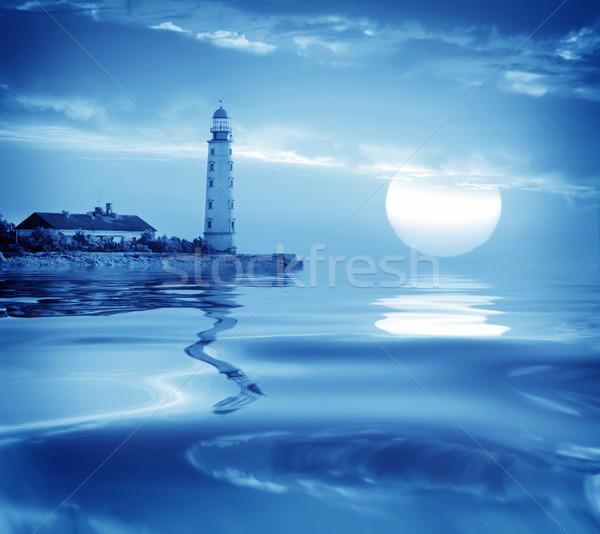 Latarni plaży niebo budynku wygaśnięcia krajobraz Zdjęcia stock © tycoon