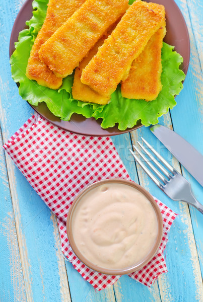 sauce and fish sticks Stock photo © tycoon
