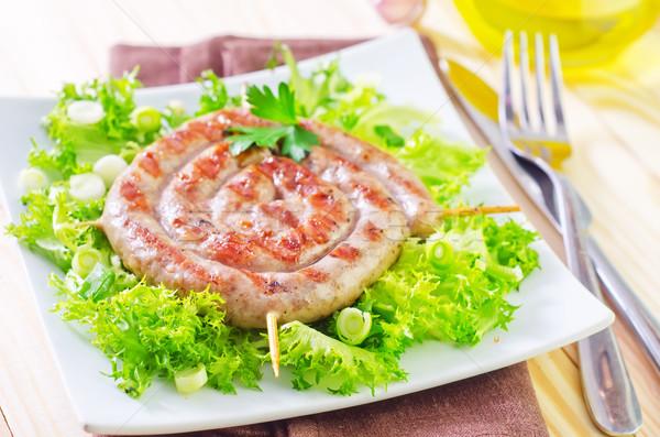Stok fotoğraf: Sosis · gıda · turuncu · restoran · akşam · yemeği · alışveriş