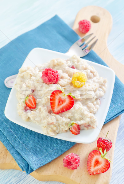 oat flakes with strawberry Stock photo © tycoon