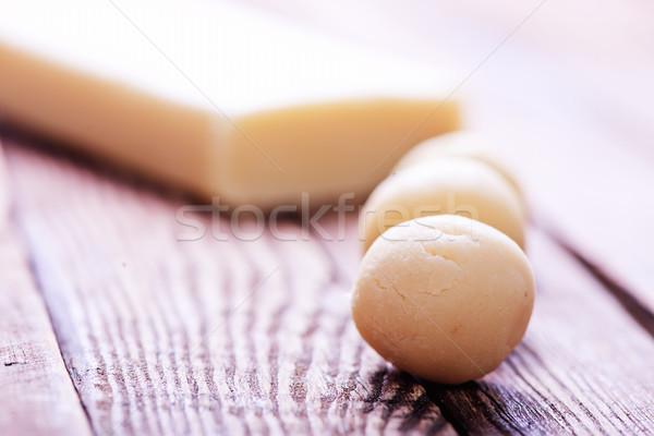 Marcipán golyók asztal friss kocka cukor Stock fotó © tycoon