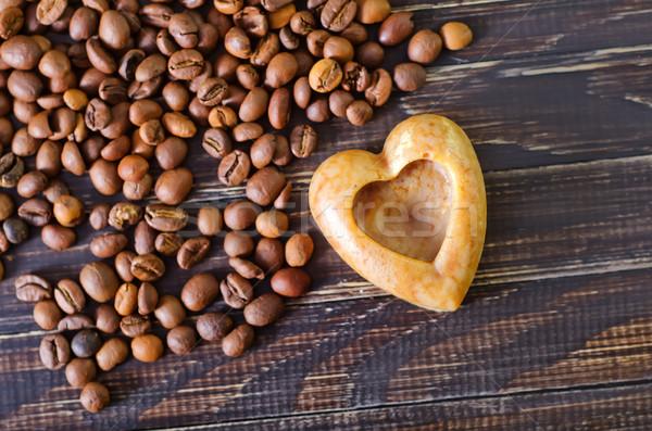 Koffie zeep hout home achtergrond schoonheid Stockfoto © tycoon