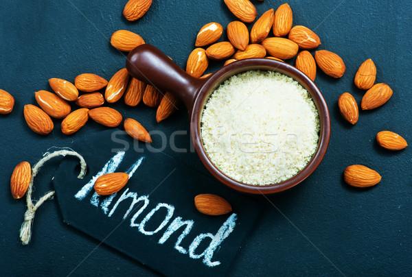 Stockfoto: Amandel · drogen · tabel · voorraad · foto · voedsel