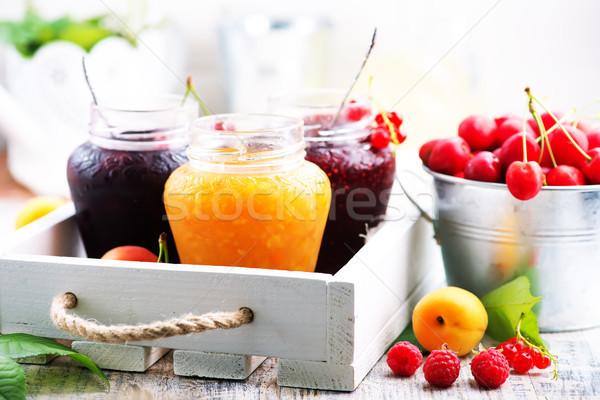 Atasco bayas frutas mesa alimentos salud Foto stock © tycoon