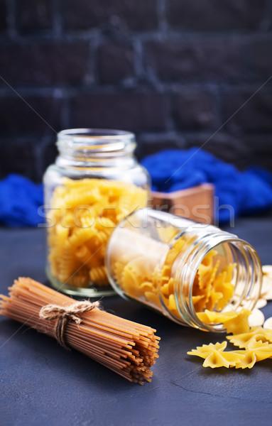 Stock fotó: Tészta · különböző · nyers · asztal · búza · nyakkendő