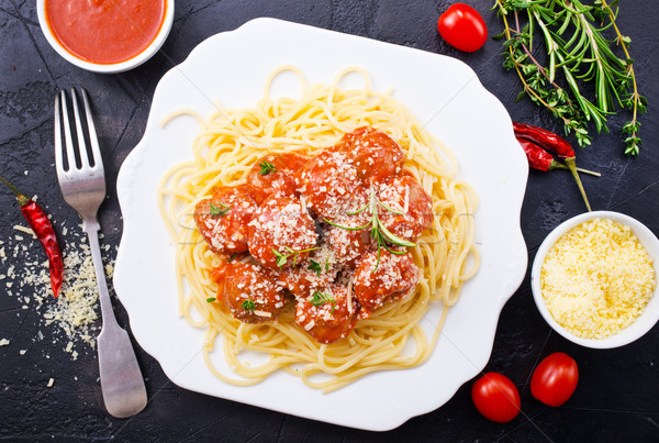 SaveDownload Previewspaghetti and meat balls Stock photo © tycoon