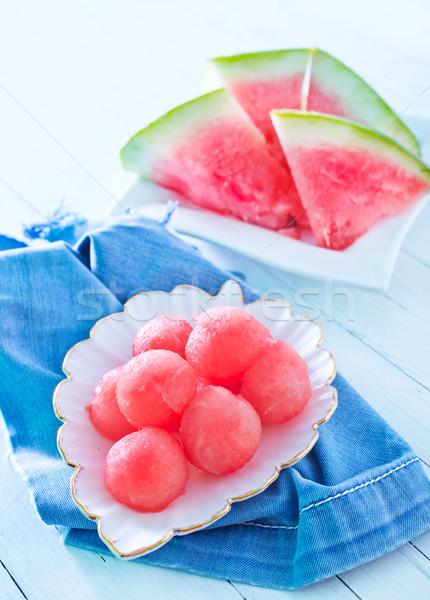 Voedsel hout natuur vruchten tuin achtergrond Stockfoto © tycoon