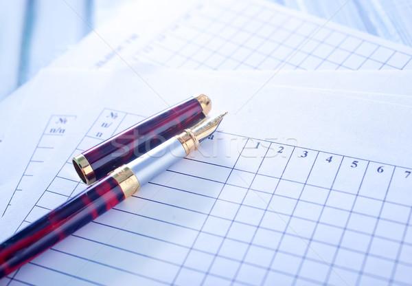 鉛筆 オフィス 紙 作業 企業 黒 ストックフォト © tycoon