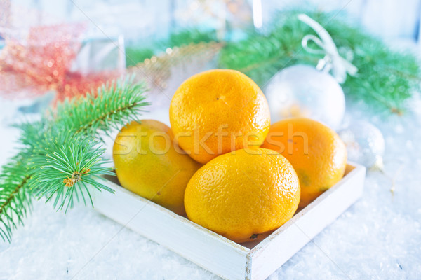 Ahşap kutu tablo dizayn meyve hediye Stok fotoğraf © tycoon
