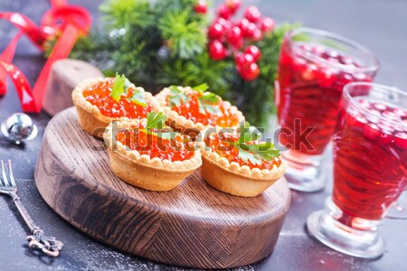 Stock photo: red salmon caviar