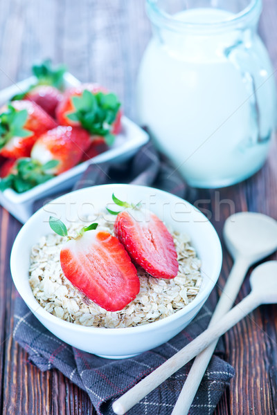 Aveia branco tigela comida Foto stock © tycoon