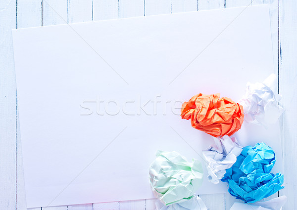 crumpled up paper wads Stock photo © tycoon