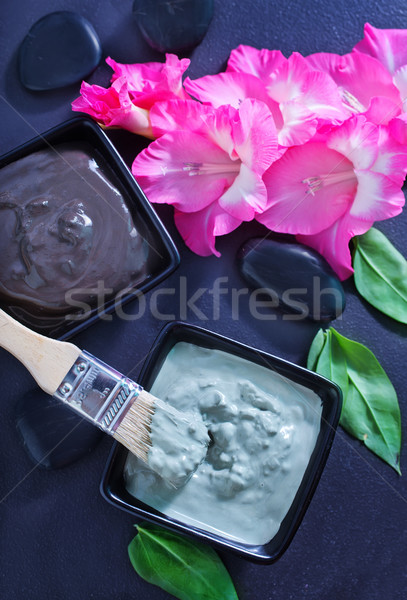 глина Spa кегли таблице фон красоту Сток-фото © tycoon