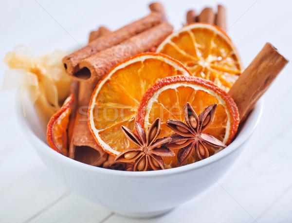Aroma fűszer konyha csillag tea sötét Stock fotó © tycoon