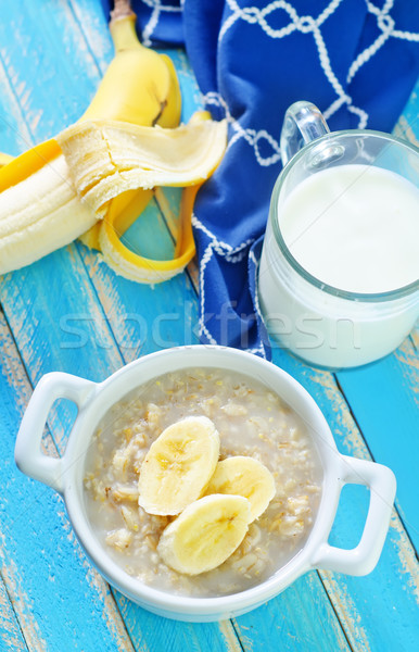 Avoine banane fruits lait blé Photo stock © tycoon