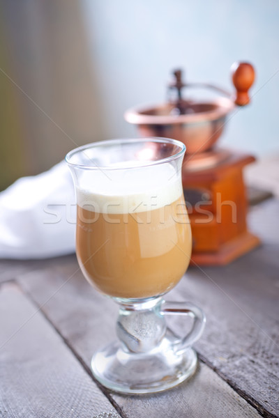 Cappuccino alimentaire bois chocolat fond lait Photo stock © tycoon