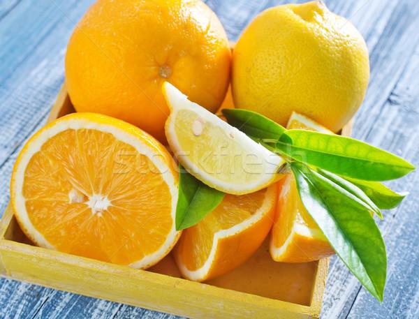 Citrus levél kereszt gyümölcs zöld citrus Stock fotó © tycoon