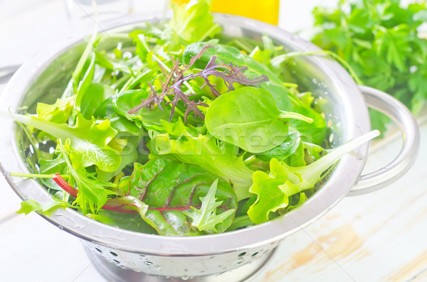 Taze salata sağlık arka plan yeşil bitki Stok fotoğraf © tycoon