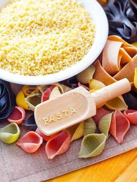 сырой пасты пшеницы продовольствие Сток-фото © tycoon