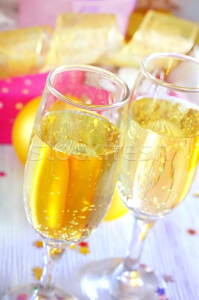 şampanya flüt dizayn çift kutu Yıldız Stok fotoğraf © tycoon