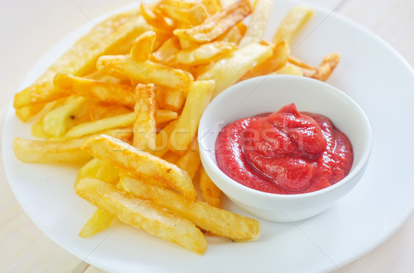potato fries with sauce Stock photo © tycoon