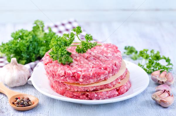 raw burgers Stock photo © tycoon