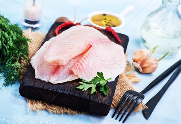 Kurczaka filet surowy przyprawy tabeli Zdjęcia stock © tycoon