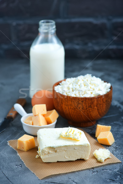 Termékek sajt asztal stock fotó étel Stock fotó © tycoon