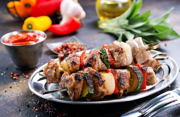 Quibe carne legumes fresco fundo escuro Foto stock © tycoon