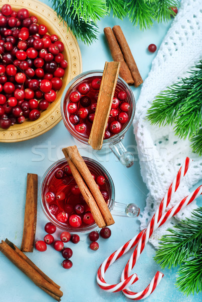 cranberry drink and berries Stock photo © tycoon